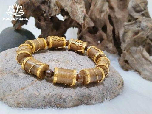 Ý nghĩa vòng tay trầm hương bọc vàng